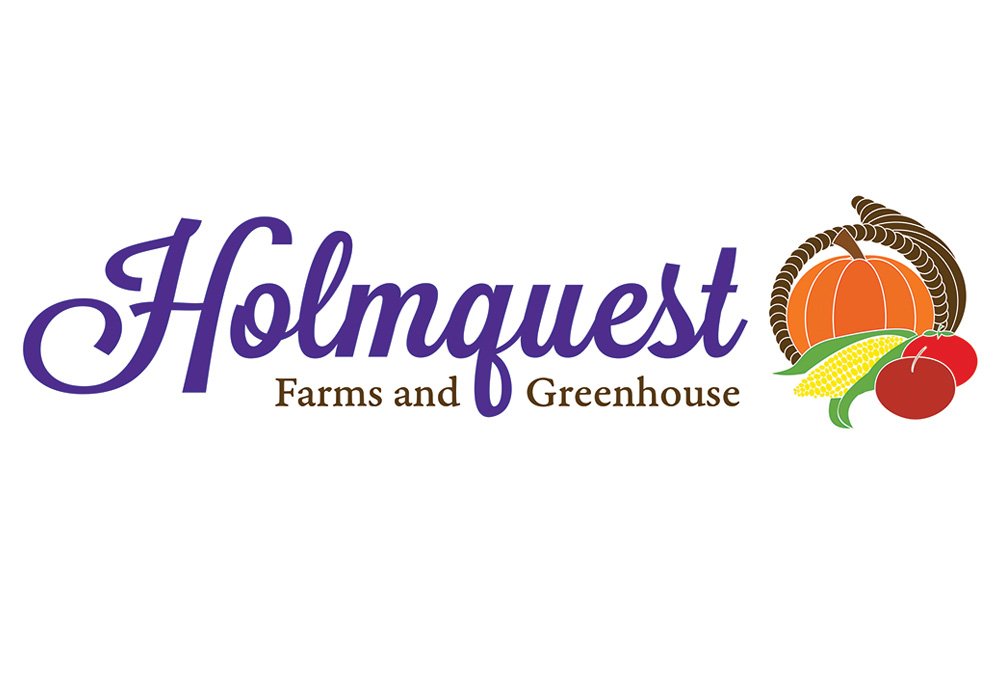 Holmquest Farms and Greenhouse logo - designed by Trevellyan.biz, Columbia County, NY graphic designer