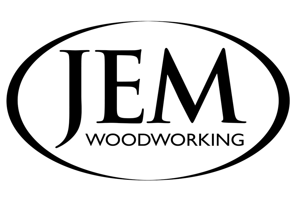 JEM Woodworking logo - designed by Trevellyan.biz, Columbia County, NY graphic designer