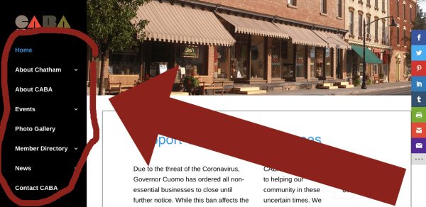 Pros and Cons of Vertical vs Horizontal Navigation - Example of vertical (sidebar) navigation