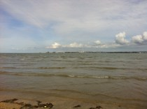 That's Le Have there in the distance, the expanse of water between us being more or less the point where the Seine meets the North Sea