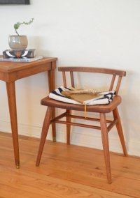 Vintage Solid Wood Low Back Mid Century Style Chair ...