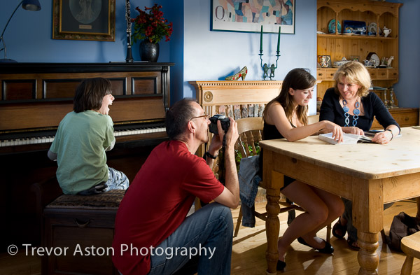 Trevor's family portrait photography Richmond Surrey London