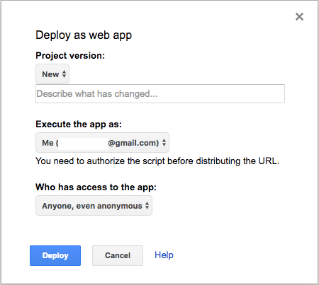 deploy your Google Apps Script API