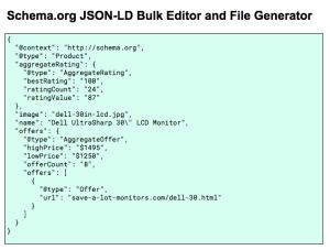 Schema.org JSON LD Bulk Editor for Google Sheets Step 1