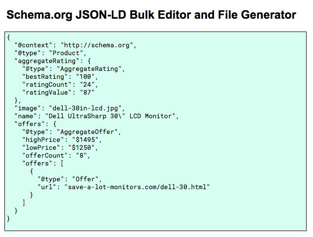JSON-LD Bulk Editor and File Generator for Google Sheets