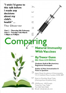 Trevor Gunn Homeopath - Vaccine Flyer