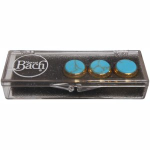 Bach gold valve top button set Turquoise