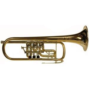 Second Hand Scherzer 8120 Rotary Valve Trumpet in C