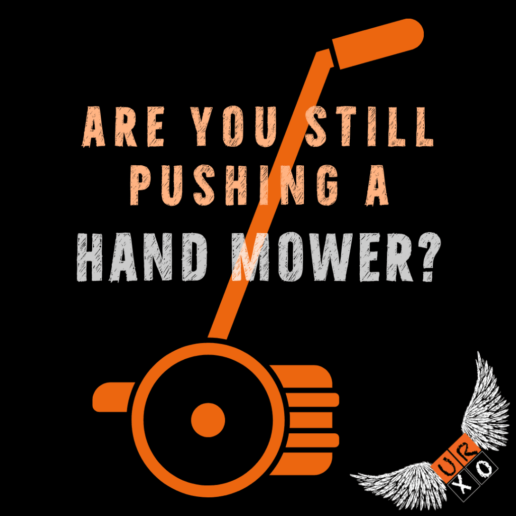 Are you still pushing a handmower blog image