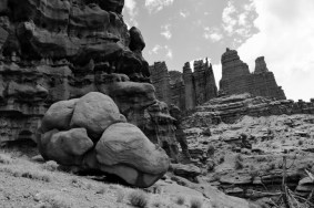 View of Fisher Towers, Utah.