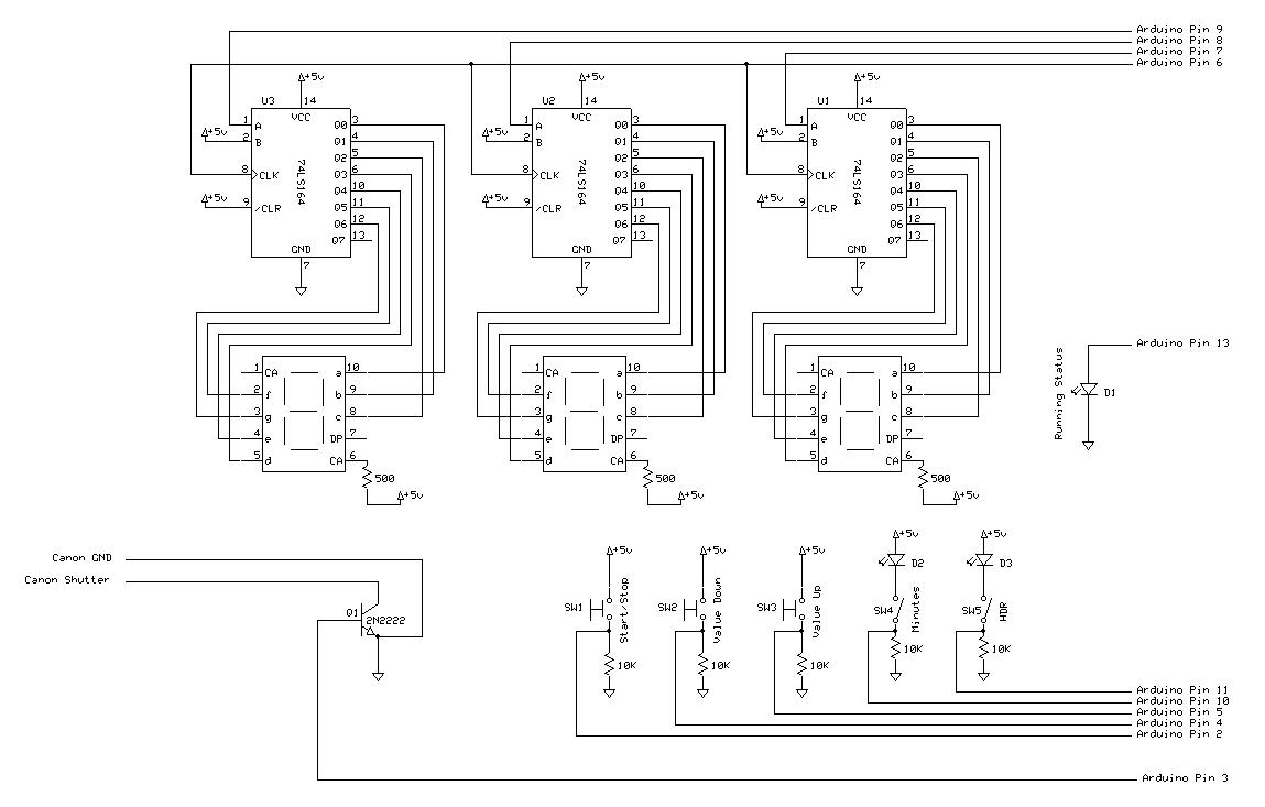 Arduino Canon Intervalometer