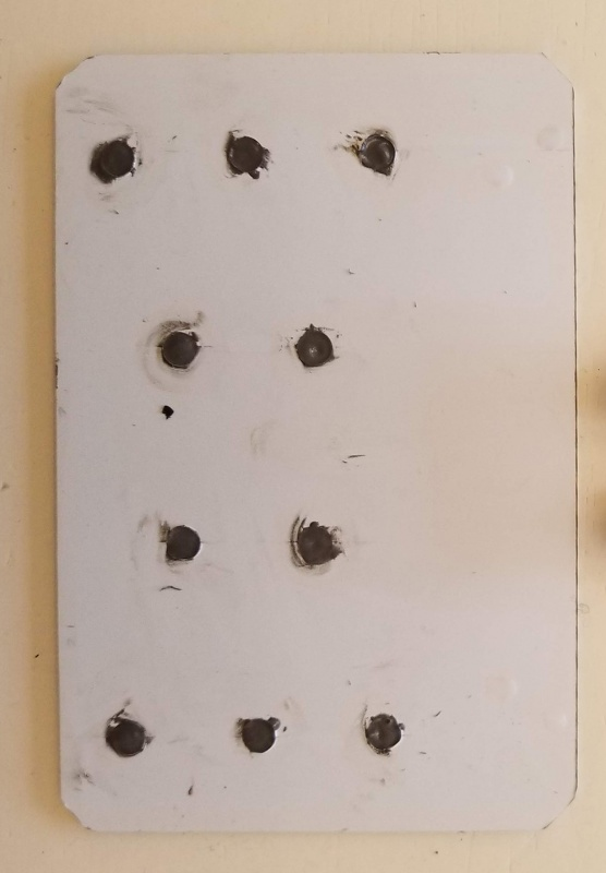 Magnets inserted and holes filled with epoxy