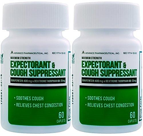 100 Count Bottle Expectorant Mucus Relief Guaifenesin ...