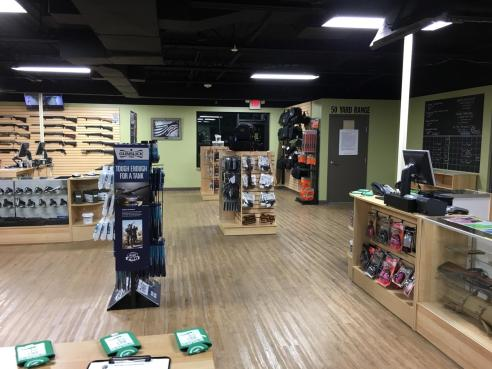 Our Showroom is set up for your convenience. We have a dedicated Firearms and Accessories sales counter for purchases and a dedicated Range Rental Counter for range time and rentals.