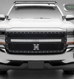 t rex grilles chevrolet silverado torch series 1 40 led light [ 1600 x 960 Pixel ]