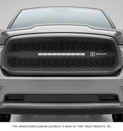 dodge ram 1500 zroadz series main insert grille w one 20 inch slim line single row includes universal wiring harness part z314581 [ 1600 x 960 Pixel ]