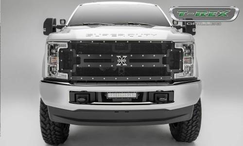 small resolution of 2017 2019 super duty x metal grille black 1 pc replacement chrome studs pn 6715471