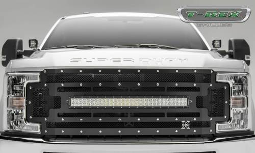 small resolution of main grille replacement w 1 30 led light bar black mesh chrome studs