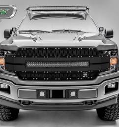ford f 150 torch al series replacement grille includes 1 30 led light bar universal wire harness aluminum frame pt 6315781 [ 2500 x 1500 Pixel ]