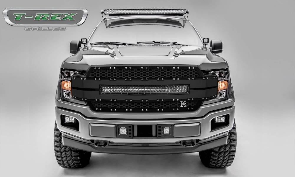 medium resolution of ford f 150 torch al series replacement grille includes 1 30 led light bar universal wire harness aluminum frame pt 6315781
