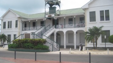 The court house in downtown Belize