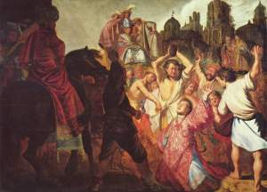 Rembrandt, The Stoning of Saint Stephen, 1685