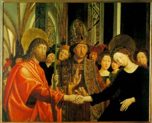 Betrothal of the Virgin by Michael Pacher