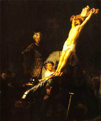 Rembrandt, The Raising of the Cross, 1633