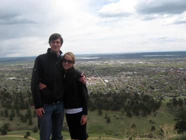 Atop Boulder, CO...in matching jackets