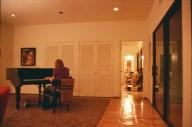Annie on piano