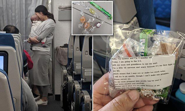 Трогателен жест в самолет
