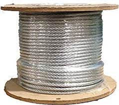 Cable – Aircraft insulated 3/16″ dia, sold by the foot