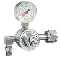 Gas Regulator – Western (Oxygen) K-Tank, Single Stage, Pre-Set 50PSI