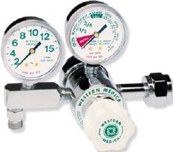 Gas Regulator – Western (Oxygen) K-Tank, Dual Stage, Pre-Set 50PSI