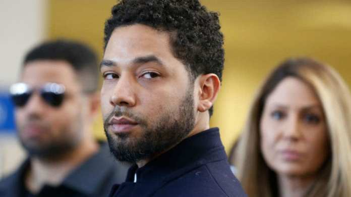 Jussie Smollett after a court appearance in Chicago, March 26, 2019