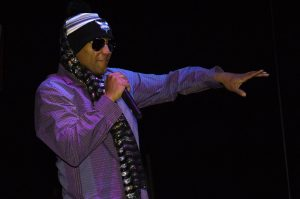 Kool Keith, like Elvis, favors scarves.