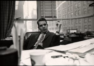 Hayes at the editor's desk at Esquire, a master at work