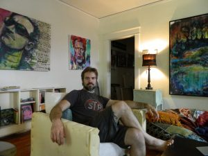 Brian Davis, an artist who lives in downtown High Point