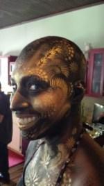 Brandy Valentine, as painted by world champion bodypainter Scott Fray.