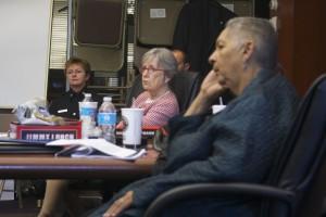 Interim Chief Anita Holder, Councilwoman Nancy Hoffmann and Mayor Pro Tem Yvonne Johnson