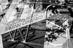 A double exposure of scenes in downtown Winston-Salem , NC.