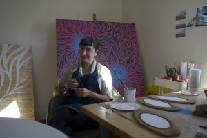 Laura Lashley in her studio space.