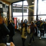 Protesters march through Hanes Mall and block holiday traffic
