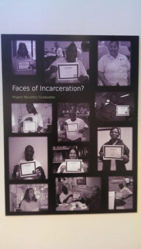 The exhibit challenges the stereotypes revolving around offenders. (Sayaka Matsuoka)