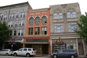 Blackburn's was originally slated to open at 310 S. Elm St. (right)