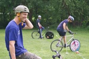 Greensboro & Winston-Salem bike polo in a joint match