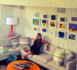 A retro-inspired kid hang out room by Charlotte-based designer Aida Saul.