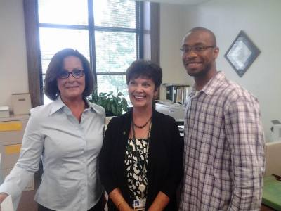 Nancy Vaughan, Marikay Abuzuaiter and Jamal Fox (l-r) (courtesy photo)