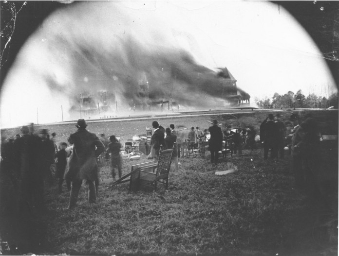 It took two hours for the Hotel Zinzendorf to burn to the ground.