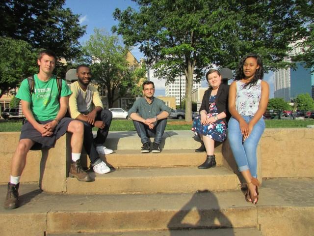 Bennett Heine, Jaylon Herbin, Hayden Abene, Virginia Parnell and Shakera Keyser helped found NC Students Against Wrongful Convictions.